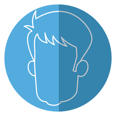 head faceless male avatar line vector illustration