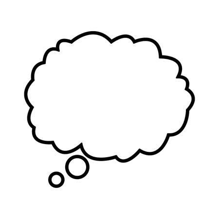 cloud dream think talking design outline vector illustration