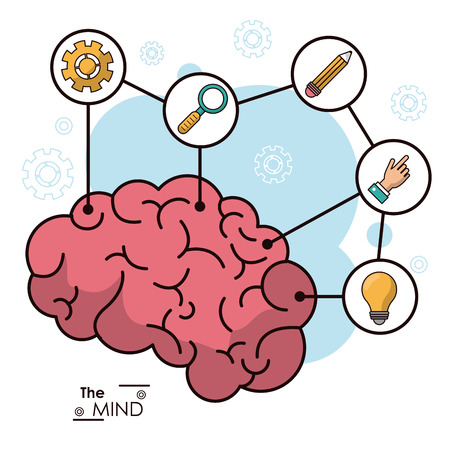 the mind human brain creative innovation idea vector illustration