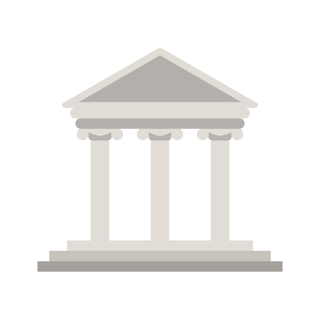 doric: ancient greek building icon image vector illustration design