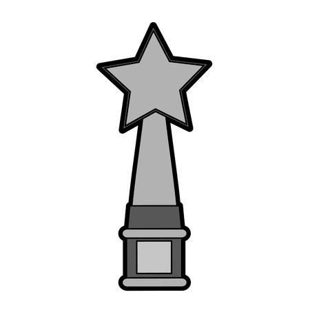 star trophy icon image vector illustration design