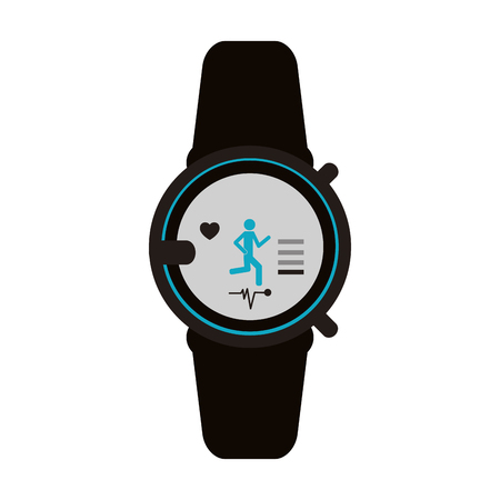 Mobile heart rate wrist monitor icon image vector illustration design Stock Vector - 76954335