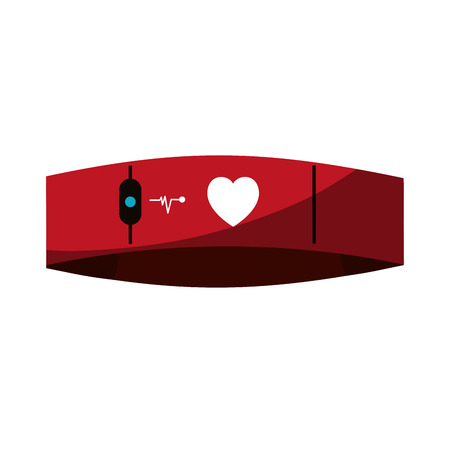 Mobile heart rate wrist monitor icon image vector illustration design Illustration