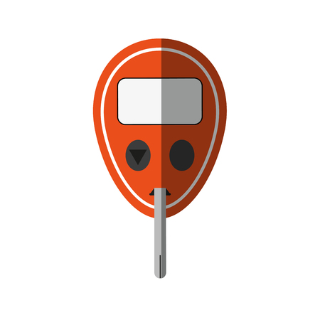 chronic: Glucometer healthcare icon image vector illustration design