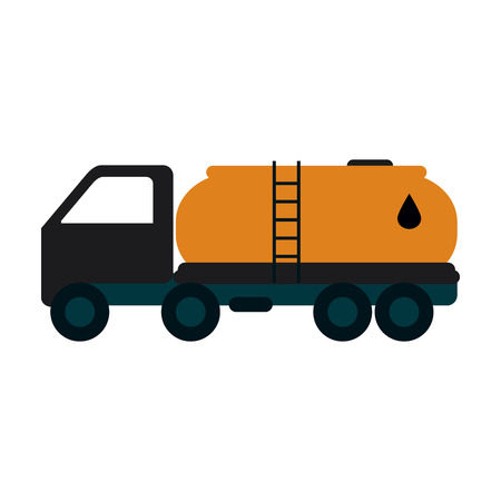 Cistern truck oil industry related icon image vector illustration design Illustration
