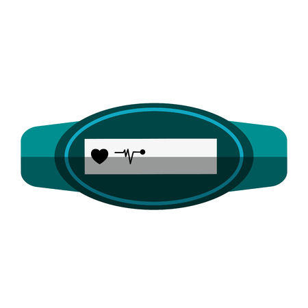 Mobile heart rate wrist monitor icon image vector illustration design Illustration