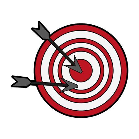 target or bullseye with arrow icon image vector illustration design