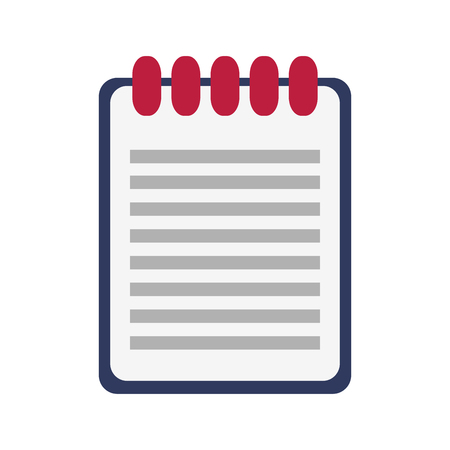 pad: wired notebook icon image vector illustration design