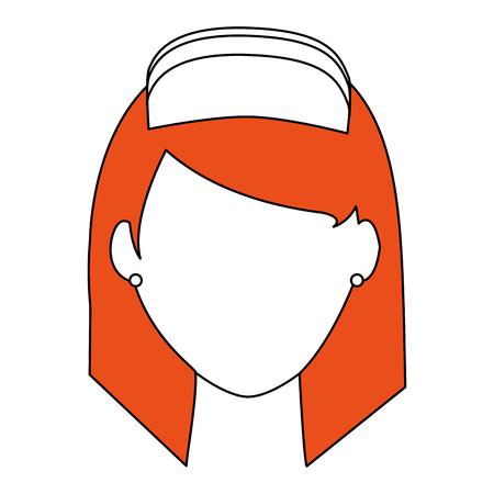 lifeline: female nurse icon image vector illustration design