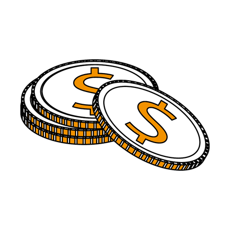 Money coins icon image vector illustration design