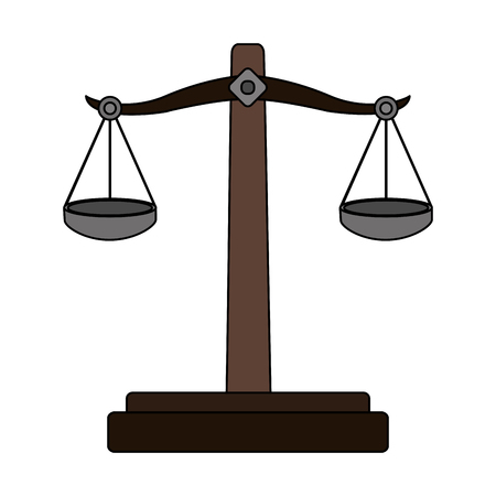 Color graphic symbol of justice vector illustration
