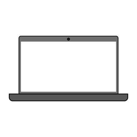 computer education: Gray color graphic laptop computer tech device vector illustration