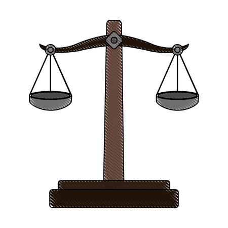 color blurred stripe of balance symbol of justice vector illustration Illustration