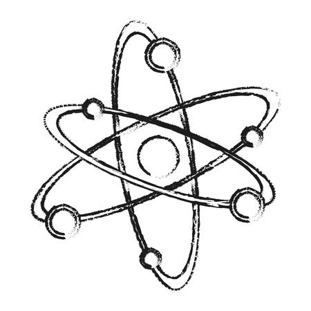 blurred silhouette atom structure icon vector illustration