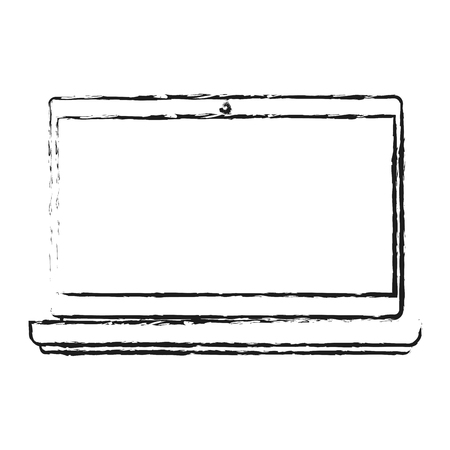 pad: blurred silhouette laptop computer tech device vector illustration