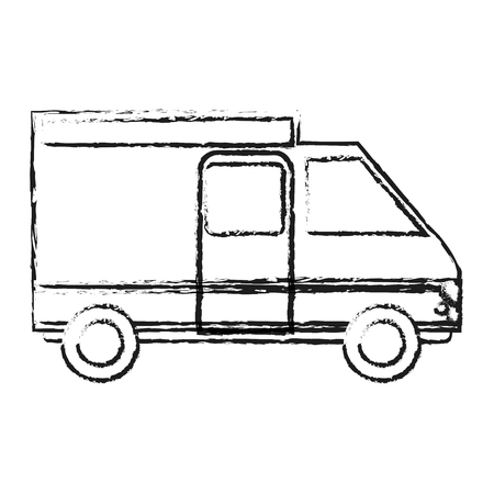 auto service: blurred silhouette truck vehicle of transport vector illustration
