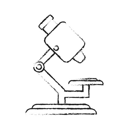 medical symbol: blurred silhouette microscope science tool vector illustration Illustration