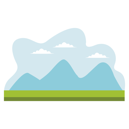 drawing mountains  cloud sky desing vector illustration
