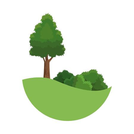 tree landscaping bush environment plant image vector illustration
