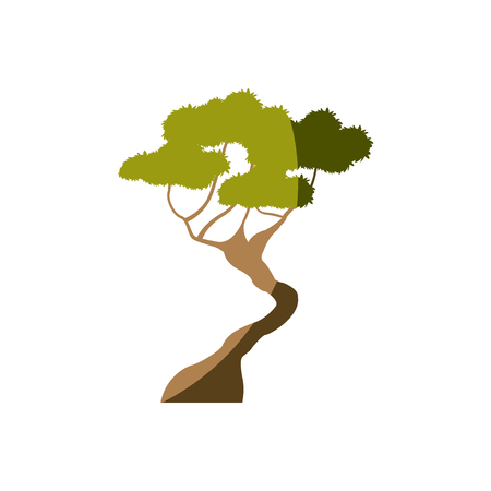 tree forest season nature branch vector illustration