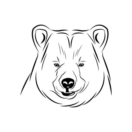 head bear animal free spirit symbol vector illustration