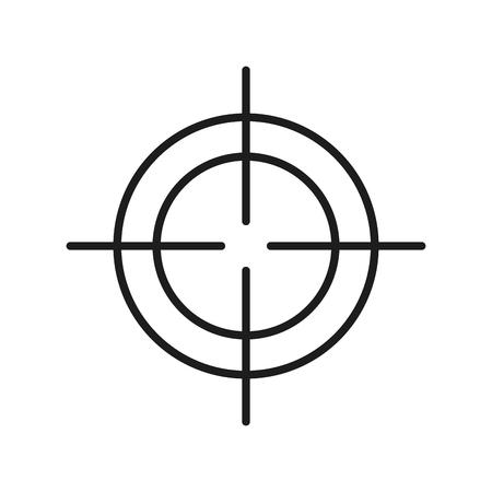 Visuelle Ziel optische Strategie Design Vektor-Illustration