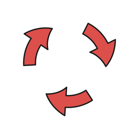 abstract recycle arrows: Arrows cycle round process direction vector illustration