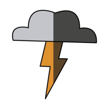 cloud thunderbolt weather storm image shadow vector illustration