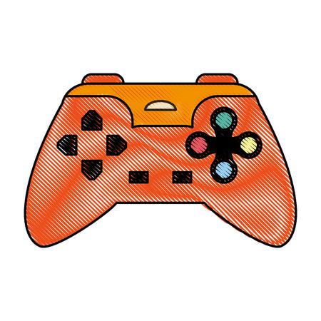 color blurred stripe of control for video games vector illustration