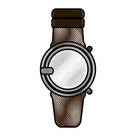 sports application: color blurred stripe smartwatch with electronic screen vector illustration