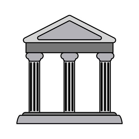 colorful realistic image parthenon architecture icon vector illustration Illustration