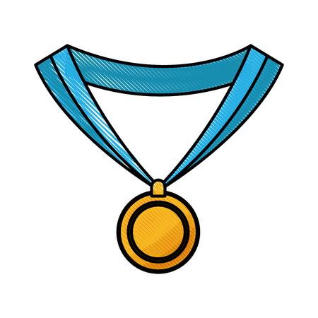 drawing medal award win sport image vector illustration