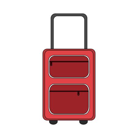 handgrip: color image cartoon travel suitcase with handle vector illustration Illustration