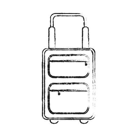 handgrip: black blurred silhouette travel suitcase with handle vector illustration Illustration