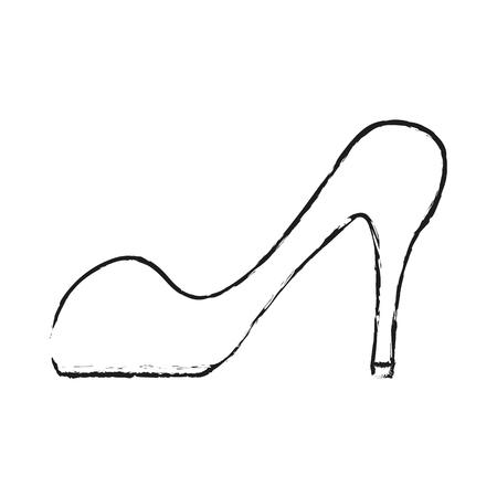 black blurred silhouette cartoon high heels shoes vector illustration Ilustração