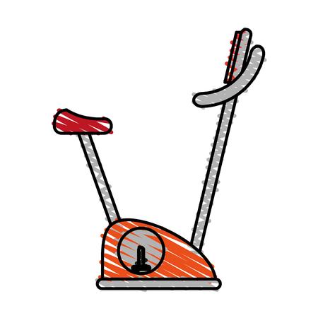 color crayon stripe image gym spinning machine for exercises vector illustration Illustration
