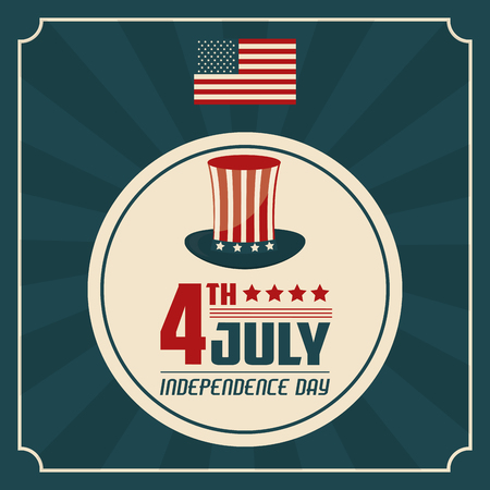 united stated: 4th july independence day united stated of america vector illustration Illustration