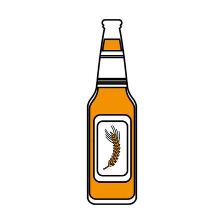 the spikes: color silhouette image bottle glass of refresh beverage vector illustration Illustration