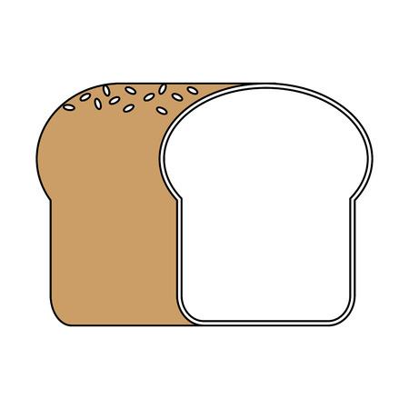 bread pastry icon image vector illustration design Ilustracja