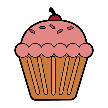 muffin pastry icon image vector illustration design