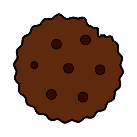 cookie pastry icon image vector illustration design