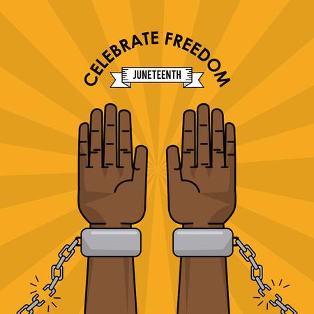 celebrate freedom struggle fight capmpaign vector illustration