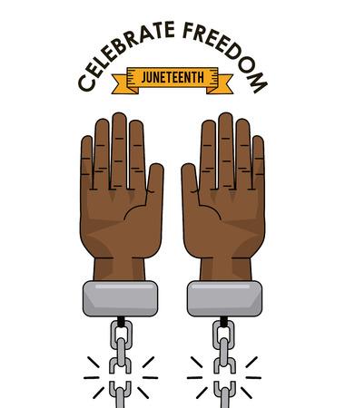 juneteenth day celebrate freedom slave image vector illustration Illustration