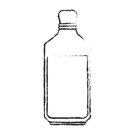 oilcan: Blurred silhouette glass bottle with olive oil vector illustration