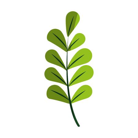 green textured leaf icon image vector illustration design