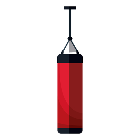 gym equipment: push bag traing sport equipment design, vector illustration graphic