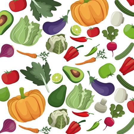 A vegetables fresh nutrition harvest food vector illustration
