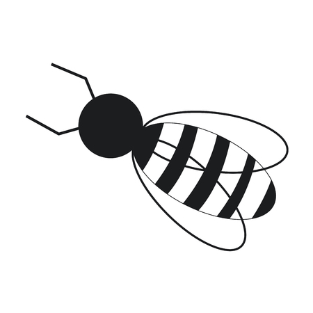 Bee work image pictogram vector illustration