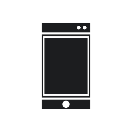 diskette: smartphone technology communication device pictogram vector illustration