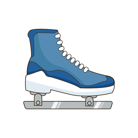 ice roller skate sport equipment image vector illustration
